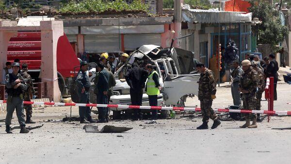 Взрыв, совершенный смертником в столице Афганистана Кабуле. 25 мая 2016