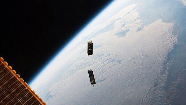 Спутники Cubesat запущены с МКС. Архивное фото