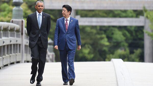 Президент США Барак Обама с премьер-министром Японии Синдзо Абэ. Архивное фото