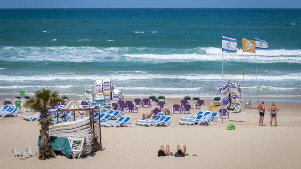 Пляж города Бат-Ям, Израиль