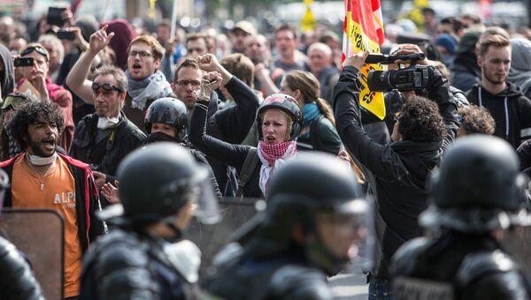 Акция протеста профсоюзов в Париже. Архивное фото
