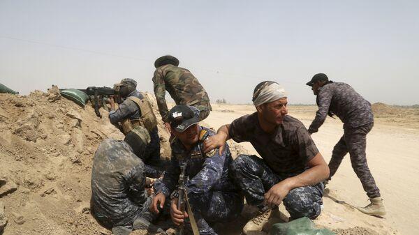 Иракская федеральная полиция ведет бой