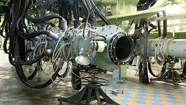 Лазерная установка во Всероссийском научно-исследовательском институте экспериментальной физики в Сарове