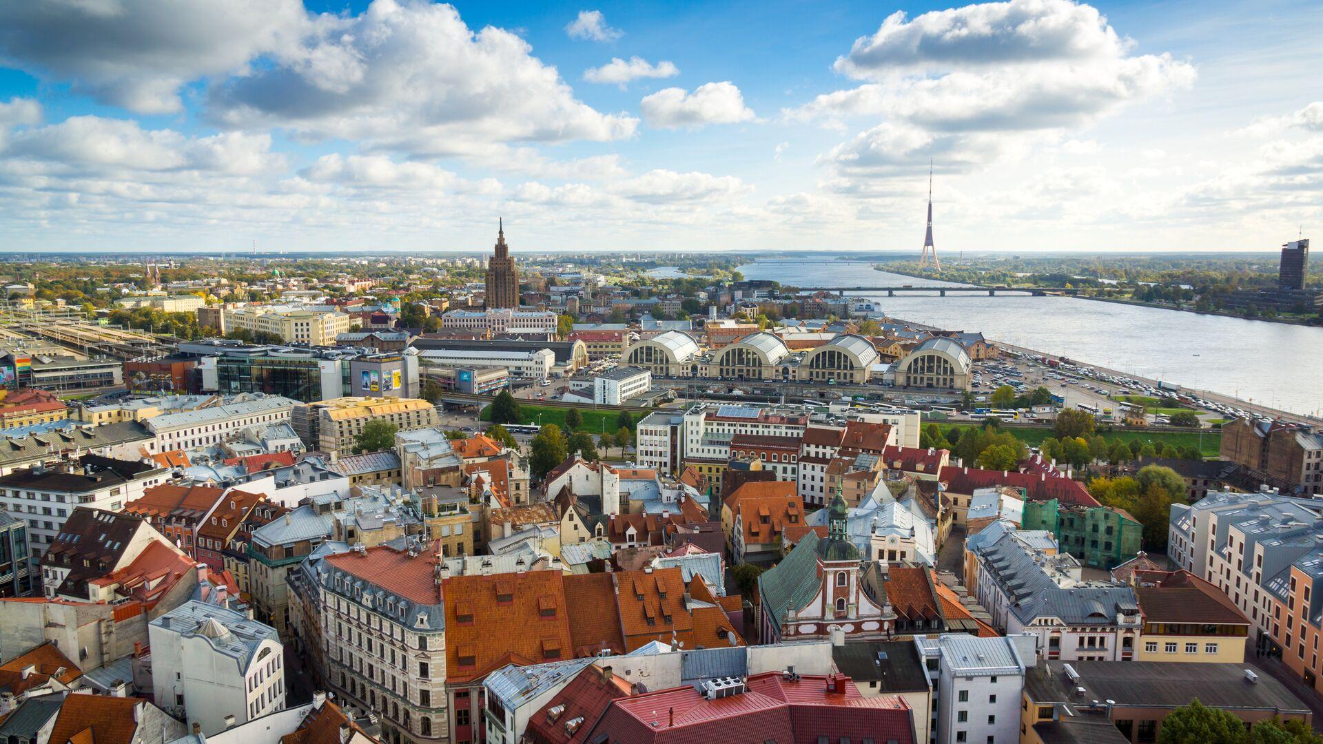 Вид Старого города в Риге, Латвия - РИА Новости, 1920, 12.07.2021