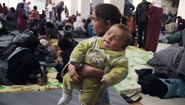 Сирийские беженцы в Дамаске. Архивное фото