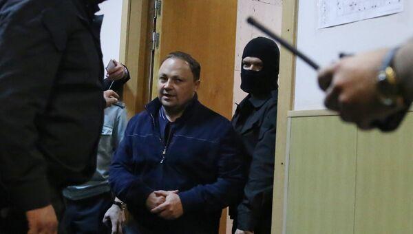 Рассмотрение ходатайства следствия об избрание меры пресечения мэру Владивостока И. Пушкареву в Басманном суде