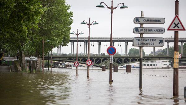 Наводнение в Париже.