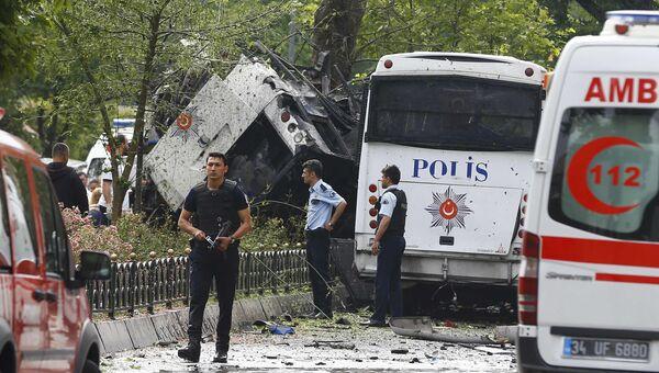 Последствия взрыва в центре Стамбула