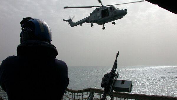 Вертолет ВМС Великобритании. Архивное фото.
