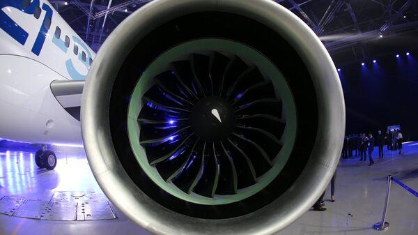 Самолет  на выставке