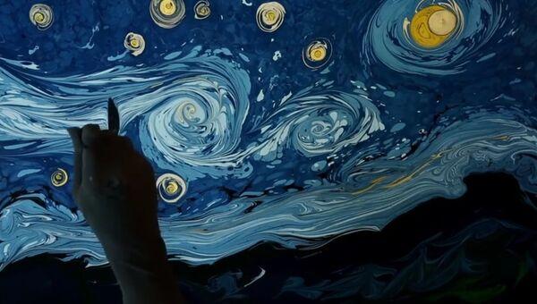 Картина Ван Гога на воде