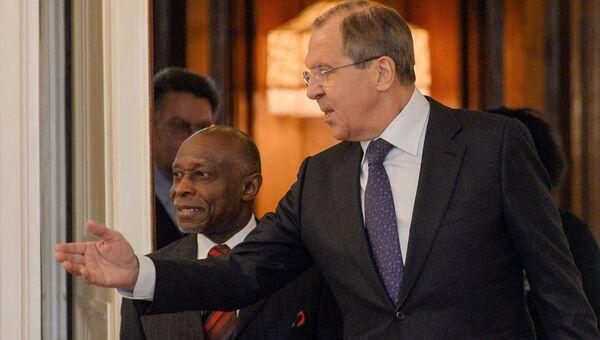 Встреча С.Лаврова с министром иностранных дел Кооперативной Республики Гайана К.Гриниджем