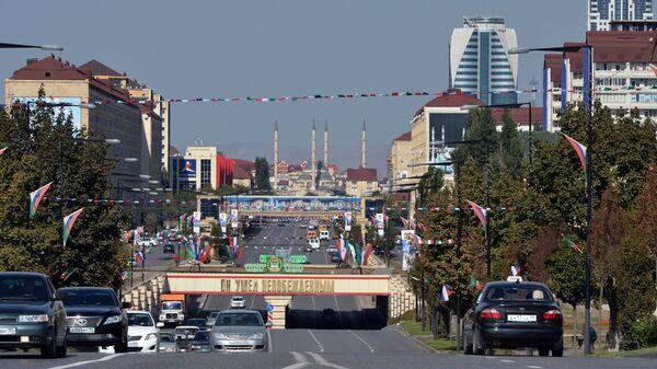 Проспект имени Ахмата Кадырова в Грозном. Архивное фото