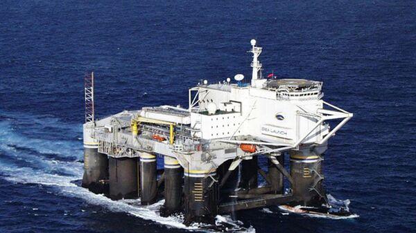 Платформа для запуска ракет в рамках проекта Морской старт