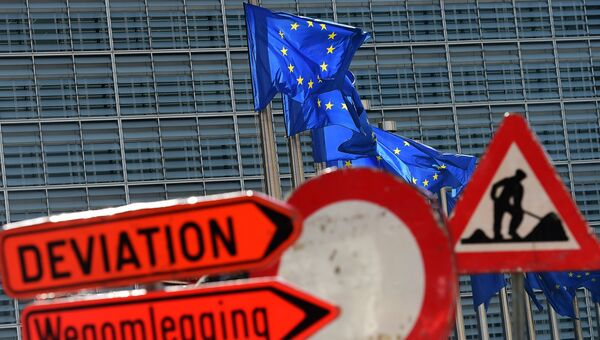 Здание Совета ЕС в Брюсселе, Бельгия. Архивное фото