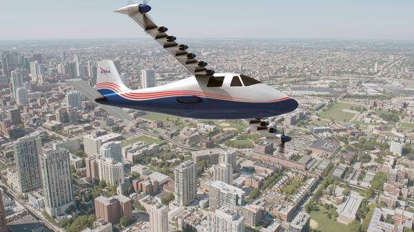 Концепт электрического самолета X-57