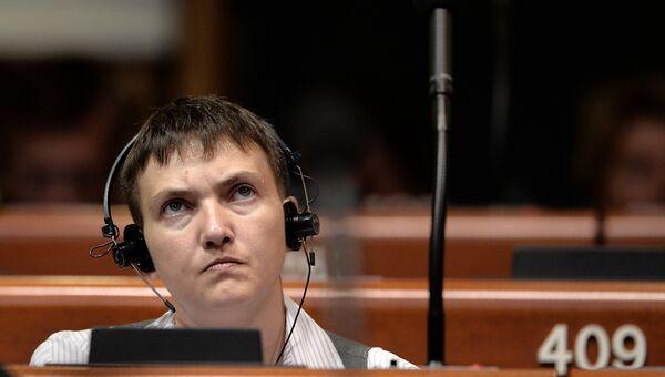 Надежда Савченко на заседании ПАСЕ. 20 июня 2016