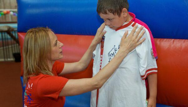 Дина Корзун и участник Игр победителей