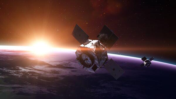 Спутники на Земной орбите. Архивное фото