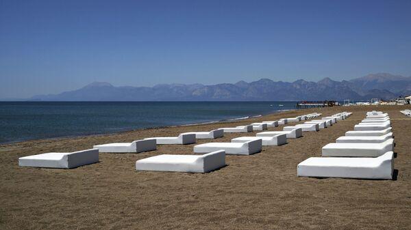 Один из пляжей в Анталье