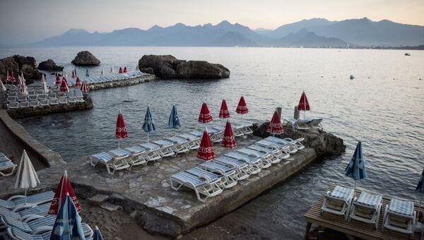 Ситуация на курортах Турции в связи со спадом туристического потока из России. Архивное фото