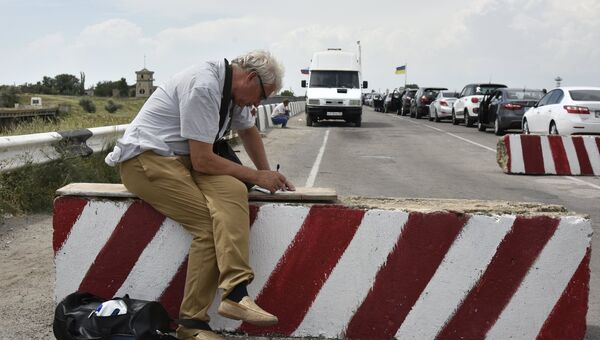 На пункте пропуска Джанкой на границе России и Украины