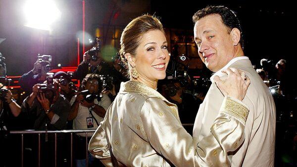Актер Том Хэнкс с женой актрисой Ритой Уилсон