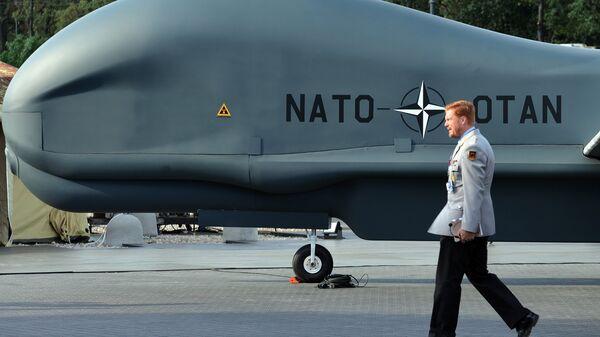 Беспилотный летательный аппарат НАТО Global Hawk Block 40. Архивное фото