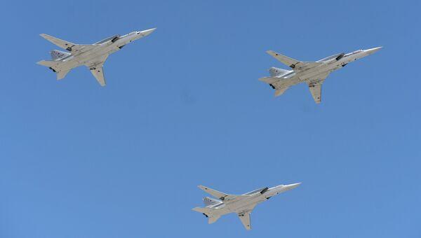 Дальние ракетоносцы-бомбардировщики Ту-22М3. Архивное фото