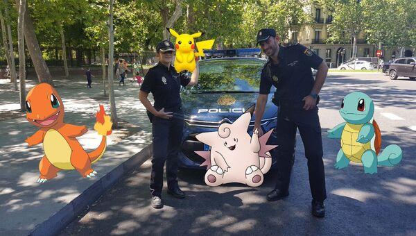 Полиция с покемонами. Архивное фото