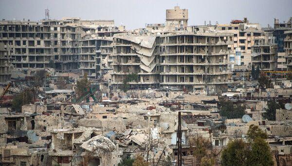 Джобар - район Дамаска, контролируемый боевиками группировки Джебхат ан-Нусра. Архивное фото
