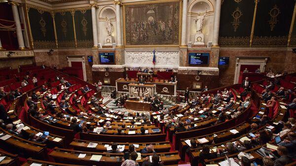 Депутаты во время заседания Национальной ассамблеи в Париже
