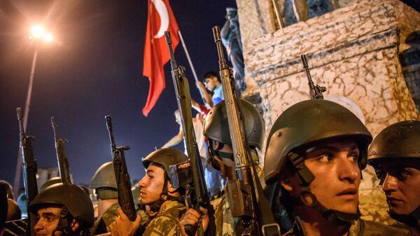Турецкие военнослужащие . Архивное фото