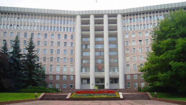 Здание парламента Республики Молдова в Кишеневе. Архивное фото