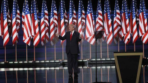 Дональд Трамп на съезде Республиканской партии США в Огайо. 22 июля 2016