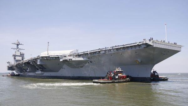 Авианосец USS Gerald R. Ford (CVN-78). 11 июня 2016