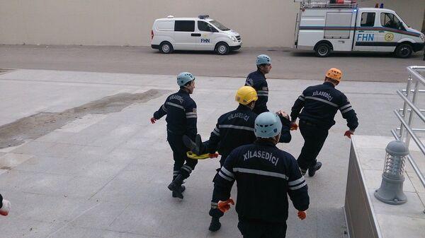 Сотрудники экстренных служб Азербайджана. Архивное фото