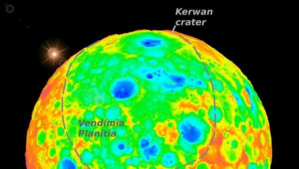 Кратеры Вендимия и Керван, скрытые под поверхностью Цереры