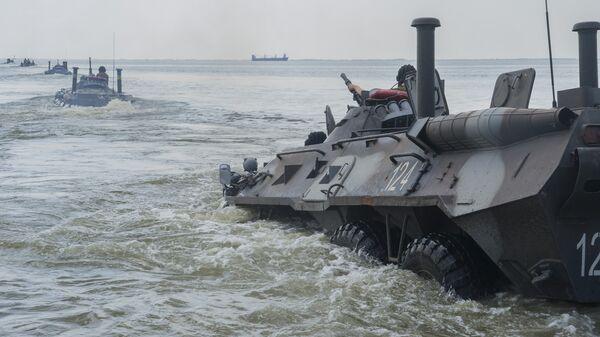 Украинские военные во время учений Sea Breeze