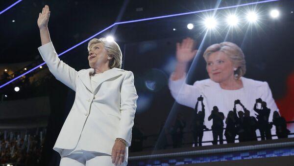 Кандидат в президенты США Хиллари Клинтон. 28 июля 2016