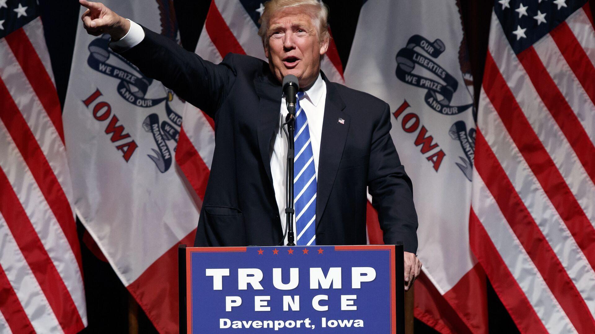 Кандидат в президенты США от Республиканской партии Дональд Трамп. 28 июля 2016 - РИА Новости, 1920, 28.01.2021