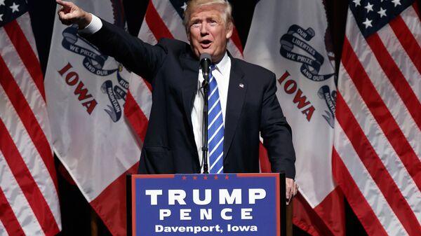 Кандидат в президенты США от Республиканской партии Дональд Трамп. 28 июля 2016
