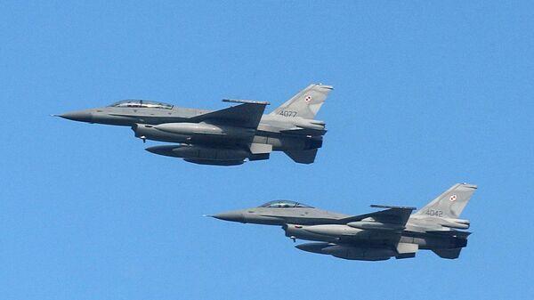 Истребители F-16 ВВС Польши. Архивное фото
