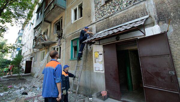Последствия обстрела Ясиноватой в Донбассе. Архивное фото