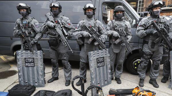 Сотрудники отдела полиции по борьбе с терроризмом в Лондоне. Архивное фото