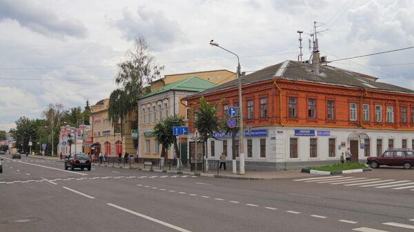 Советская улица в центре города Егорьевск. Архивное фото