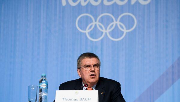 Пресс-конференция президента МОК Т. Баха