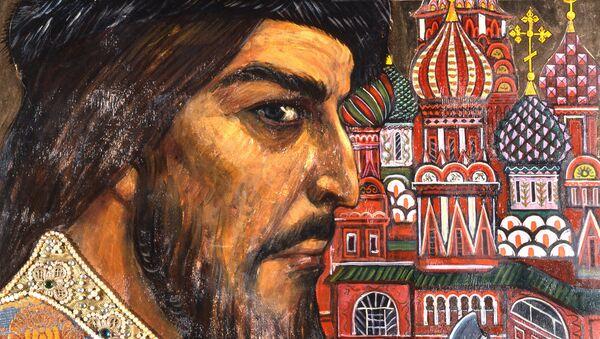 Картина Иван Грозный художника Ильи Глазунова. Архивное фото
