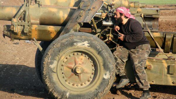 Боевик террористической группировки Джейш аль-Фатх. Архивное фото