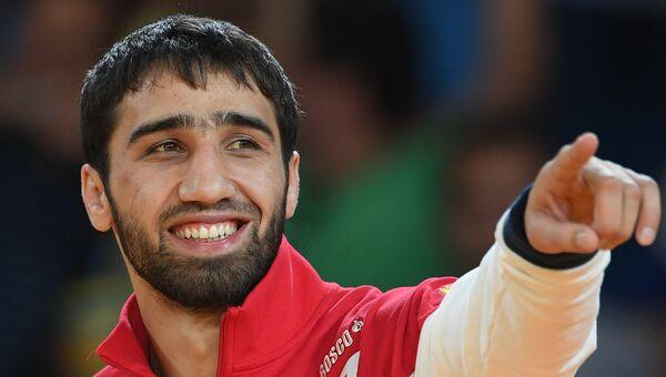 Дзюдоист Хасан Халмурзаев, завоевавший золотую медаль на XXXI летних Олимпийских играх